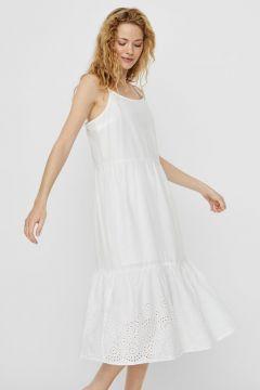 VERO MODA Brodyrprydd Maxiklänning Kvinna White(112326381)