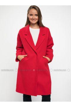 Red - Coat - DeFacto(110325552)