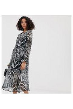 Reclaimed Vintage Inspired - Transparentes Midi-Hängerkleid mit Animalprint - Mehrfarbig(86667415)