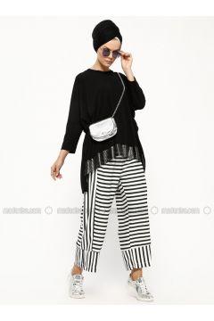 Black - White - Stripe - Pants - Miorespiro(110320618)