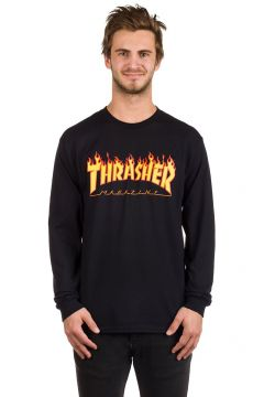 Thrasher Flame Long Sleeve T-Shirt zwart(85169855)