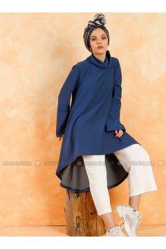 Polo neck - Multi - Saxe - Sweat-shirt - Muni Muni(110330540)