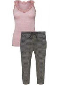 Capri-Pyjama Jockey ash rose melange(115684838)