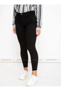 Black - Pants - DeFacto(110325461)