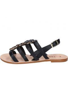 Sandales E...vee E...sandales noir cuir BY184(88522916)