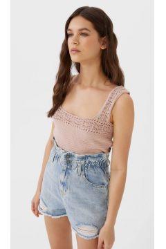 Jeans-Shorts mit Stretchbund Verwaschenes Blau(114360842)