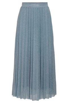 ONLY Paillettes Jupe Longue Women blue(114187344)