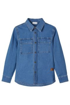 NAME IT Manches Longues Chemise En Jean Men blue(110446403)