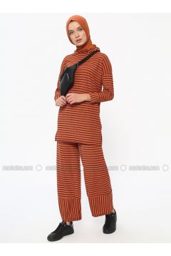 Terra Cotta - Stripe - Unlined - Suit - Dadali(110313599)