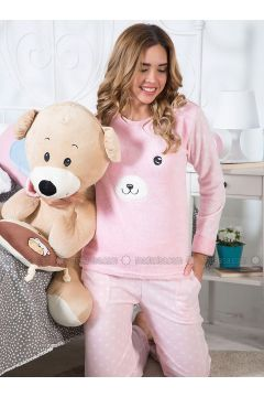 Pink - Crew neck - Multi - Pyjama - Strawberry(110318212)