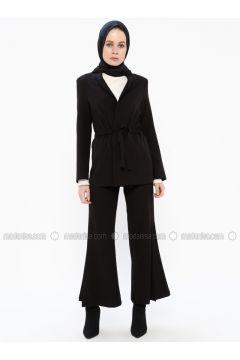 Black - Pants - İroni(110338990)