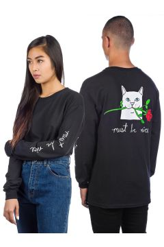 Rip N Dip Romantic Nerm Long Sleeve T-Shirt zwart(85172313)