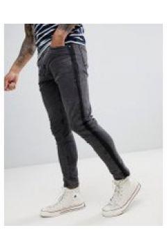 Brave Soul - Jeans mit Zierstreifen - Schwarz(83135594)