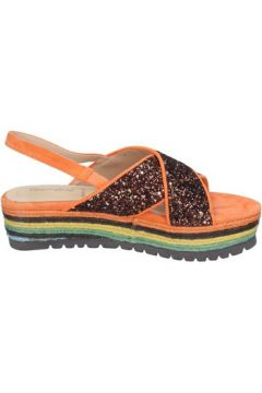 Sandales Rebecca White sandales bronze glitter orange daim BT838(98485110)