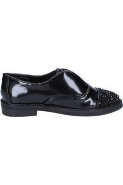 Chaussures Sara Lopez élégantes noir cuir daim strass BX701(115442919)