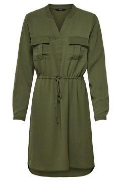 ONLY V-ausschnitt Kleid Damen Grün(107401744)