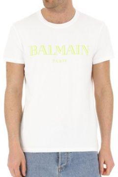 T-shirt Balmain Tee Shirt Stretch Rh11601 -(101638416)