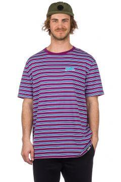 Broken Promises Paranoid Stripe T-Shirt paars(85182032)