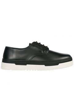 Men's classic leather lace up laced formal shoes derby(77309095)
