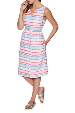 Joules Lisia Kleid - Red Multi Stripe(100265072)