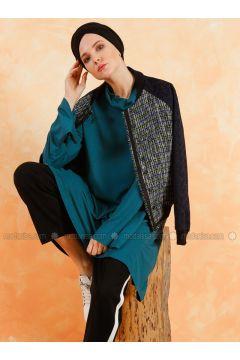 Green - Polo neck - Cotton - Tunic - Muni Muni(110333261)
