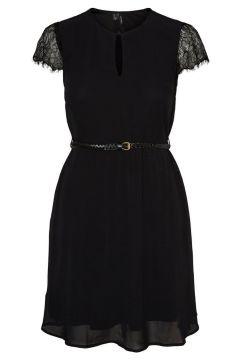 VERO MODA Mancherons Robe Mi-longue Women black(114596352)