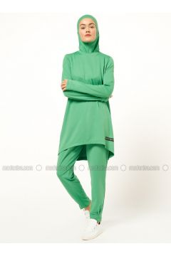 Green - Crew neck - Tracksuit Top - FD SPORTS(110335478)