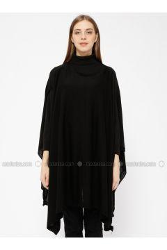 Black - Crew neck -- Cardigan - Meliana(110331032)