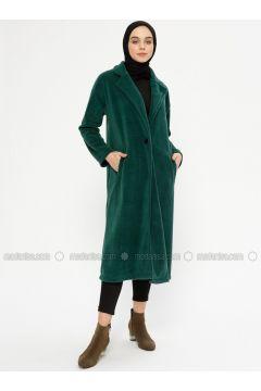 Green - Unlined - Shawl Collar - Jacket - Meys(110336717)
