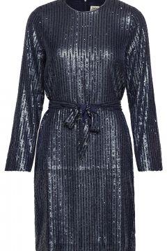 Britta Sequin Dress Kurzes Kleid Blau TWIST & TANGO(114164279)