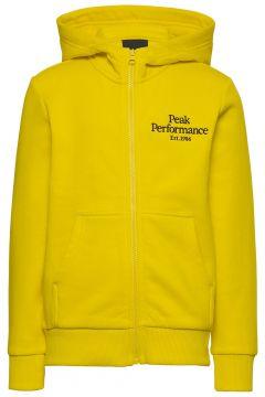 Jr Original Zip Hood Hoodie Pullover Gelb PEAK PERFORMANCE(114802002)