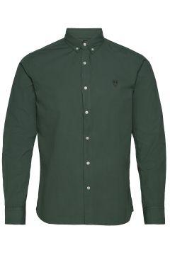 Larch Ls Owl Shirt - Gots/Vegan Hemd Casual Grün KNOWLEDGE COTTON APPAREL(114153903)