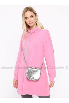 Cotton - Pink - Sweat-shirt - Missemramiss(110330941)