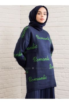Navy Blue - Crew neck -- Tunic - Lysa Studio(110319885)