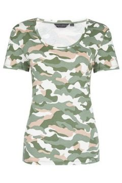 Trees for Cities Khaki Camouflage Print Scoop T-Shirt(86530069)