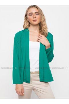 Green - Jacket - DeFacto(110325419)