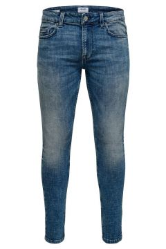 ONLY & SONS Onswarp Blue Washed Skinny Jeans Heren Blauw(114382874)