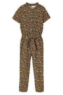 NAME IT Bloemenprint Jumpsuit Dames Geel(111127904)
