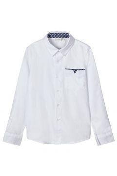 NAME IT Bomullssydd Skjorta Man White(110856964)