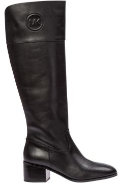 Women's leather heel boots dylyn(116914515)