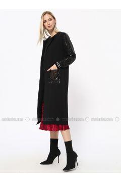 Black - Unlined - Cotton - Topcoat - Missemramiss(110330948)