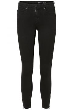 NOISY MAY Nmkimmy Cropped Normal Waist Skinny Jeans Dames Zwart(94018190)