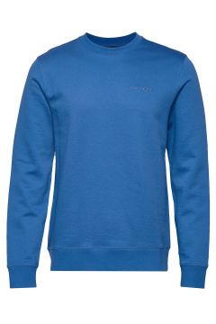 Throw C-Neck-Clean Sweat Sweat-shirt Pullover Blau J. LINDEBERG(109200299)
