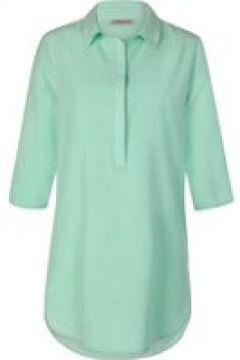 Blusenhemd in lässiger Longform mit Seide & Leinen Codello mint(111527624)