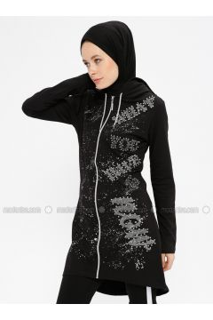 Black - Multi - Tracksuit Top - Şımart(110321341)