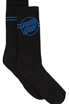Sports Socks Santa Cruz Opus Dot Stripe Crew - Black(115690472)