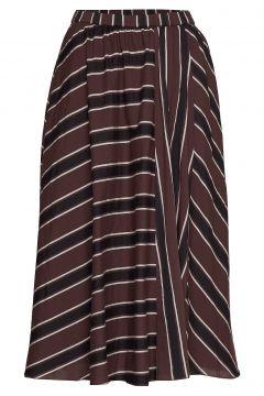 Ceres Skirt Autumn Stripe Knielanges Kleid Braun MOSHI MOSHI MIND(114163563)