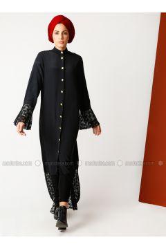 Black - Crew neck - Abaya - Meryem Acar(110331934)