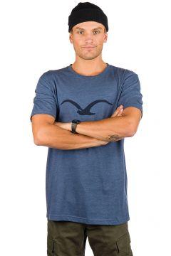 Cleptomanicx Möwe T-Shirt blauw(96278585)