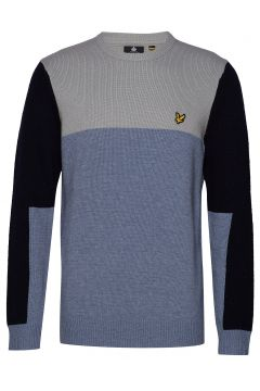 Colourblock Crew Sweat-shirt Pullover Blau LYLE & SCOTT(114156088)